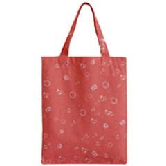 Sweetie Peach Zipper Classic Tote Bags