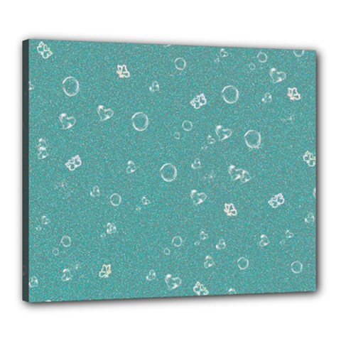 Sweetie Soft Teal Canvas 24  X 20