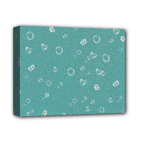 Sweetie Soft Teal Deluxe Canvas 14  x 11