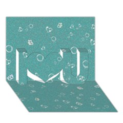 Sweetie Soft Teal I Love You 3D Greeting Card (7x5)