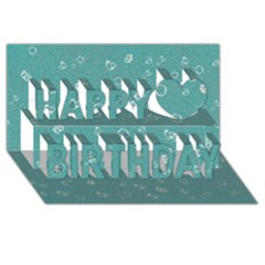 Sweetie Soft Teal Happy Birthday 3d Greeting Card (8x4)