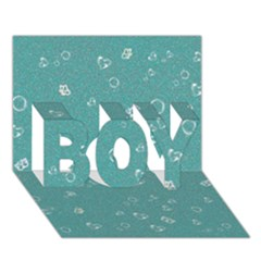 Sweetie Soft Teal Boy 3d Greeting Card (7x5)