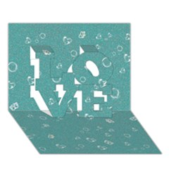 Sweetie Soft Teal LOVE 3D Greeting Card (7x5)