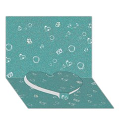 Sweetie Soft Teal Heart Bottom 3D Greeting Card (7x5)