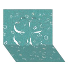 Sweetie Soft Teal Clover 3D Greeting Card (7x5)