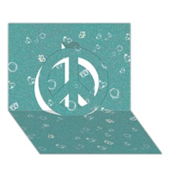 Sweetie Soft Teal Peace Sign 3d Greeting Card (7x5)