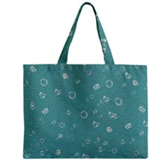 Sweetie Soft Teal Zipper Tiny Tote Bags