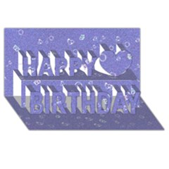 Sweetie Soft Blue Happy Birthday 3d Greeting Card (8x4)