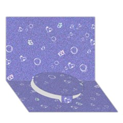 Sweetie Soft Blue Circle Bottom 3d Greeting Card (7x5)
