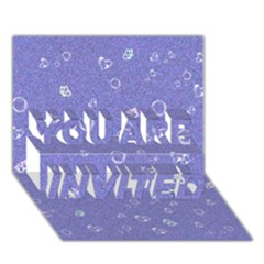 Sweetie Soft Blue YOU ARE INVITED 3D Greeting Card (7x5)