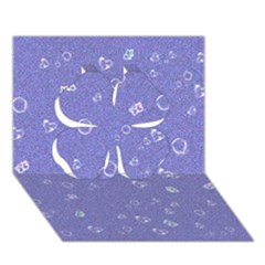 Sweetie Soft Blue Clover 3d Greeting Card (7x5)