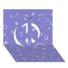 Sweetie Soft Blue Peace Sign 3d Greeting Card (7x5)