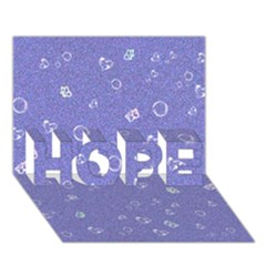 Sweetie Soft Blue HOPE 3D Greeting Card (7x5)