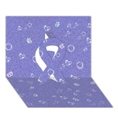Sweetie Soft Blue Ribbon 3d Greeting Card (7x5)
