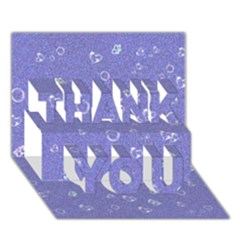 Sweetie Soft Blue Thank You 3d Greeting Card (7x5)