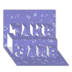 Sweetie Soft Blue TAKE CARE 3D Greeting Card (7x5)