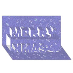 Sweetie Soft Blue Merry Xmas 3d Greeting Card (8x4)