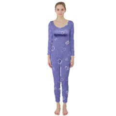 Sweetie Soft Blue Long Sleeve Catsuit