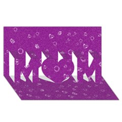 Sweetie,purple Mom 3d Greeting Card (8x4)