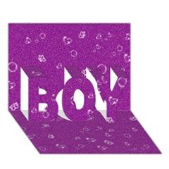 Sweetie,purple BOY 3D Greeting Card (7x5)