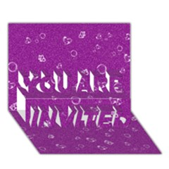 Sweetie,purple YOU ARE INVITED 3D Greeting Card (7x5)