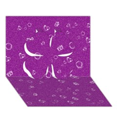 Sweetie,purple Clover 3D Greeting Card (7x5)