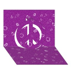 Sweetie,purple Peace Sign 3D Greeting Card (7x5)