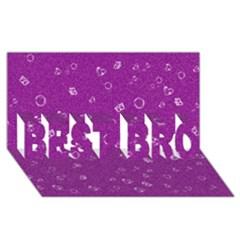 Sweetie,purple BEST BRO 3D Greeting Card (8x4)