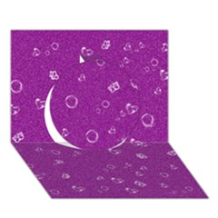 Sweetie,purple Circle 3D Greeting Card (7x5)