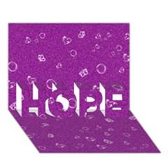 Sweetie,purple HOPE 3D Greeting Card (7x5)