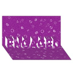 Sweetie,purple ENGAGED 3D Greeting Card (8x4)