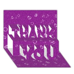 Sweetie,purple THANK YOU 3D Greeting Card (7x5)