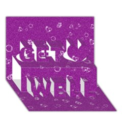 Sweetie,purple Get Well 3D Greeting Card (7x5)