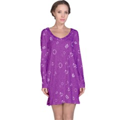Sweetie,purple Long Sleeve Nightdresses