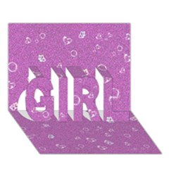 Sweetie,pink GIRL 3D Greeting Card (7x5)