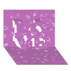 Sweetie,pink LOVE 3D Greeting Card (7x5)