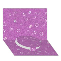 Sweetie,pink Circle Bottom 3D Greeting Card (7x5)