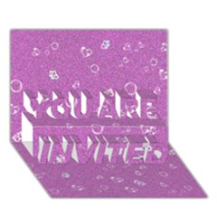 Sweetie,pink YOU ARE INVITED 3D Greeting Card (7x5)