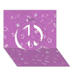 Sweetie,pink Peace Sign 3D Greeting Card (7x5)