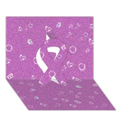 Sweetie,pink Ribbon 3D Greeting Card (7x5)