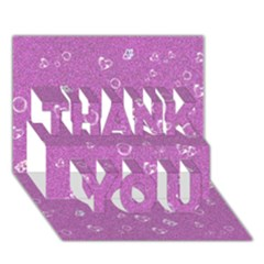 Sweetie,pink Thank You 3d Greeting Card (7x5)