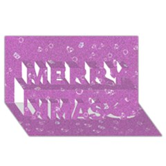 Sweetie,pink Merry Xmas 3d Greeting Card (8x4)