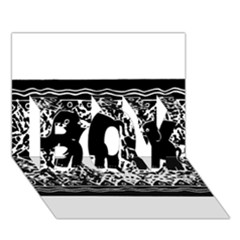 Elephant And Calf Lino Print BOY 3D Greeting Card (7x5)