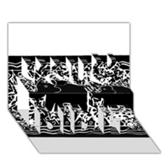 Elephant And Calf Lino Print You Did It 3D Greeting Card (7x5)