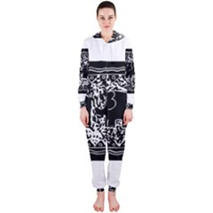 Elephant And Calf Lino Print Hooded Jumpsuit (Ladies)