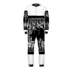 Elephant And Calf Lino Print OnePiece Jumpsuit (Kids)