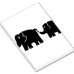 Elephant And Calf Large Memo Pads