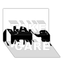 Elephant And Calf TAKE CARE 3D Greeting Card (7x5)