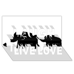 Elephant And Calf Laugh Live Love 3D Greeting Card (8x4)