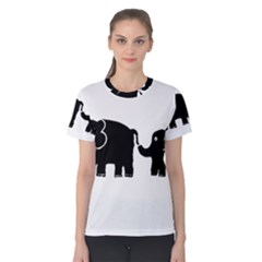 Elephant And Calf Women s Cotton Tees